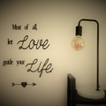 Love guide life - Quote / Wall sign