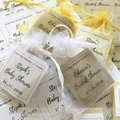 10 x Shower Favour Mini Soap Gifts ~ with DIY organza bag & kraft tag.
