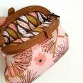 Wooden framed Floral handbag