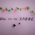 You are my sunshine - Quote / Wall sign