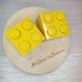 Yellow Square Lego Brick - Stud Earrings