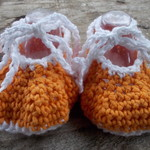 """crochet baby shoes """"dancing feet"""" cotton and acrylic yarns 10-11cm foot ON SALE!"""