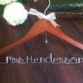 Wire Word Name Hanger, Personalised Wedding Hangers, Gift for Bride