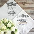 Your Own Wording Wedding Handkerchief, Custom Word Hanky, Wedding Gift for Dad