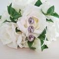 Bridal Bouquet Photo Charm, Memory Locket for Bride, Remembering Grandparents