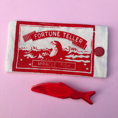 Fortune Teller Fish Brooch with Pouch