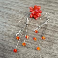 Fiery Crystal Earrings