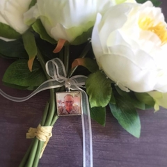 Bouquet Memory Charm, Photo Memorial Charm for Wedding Bouquet,