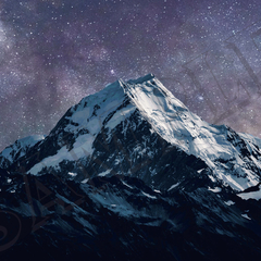 007 Stars over mountain poster A4 Size