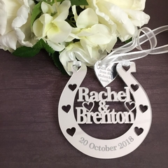 Lucky Wedding Horseshoe, Custom Horseshoe, Gift for Bride Horseshoe, Horseshoe,