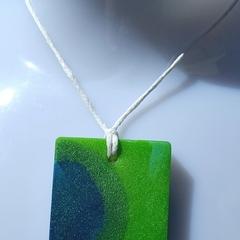 Green resin pendant
