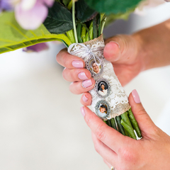 Memory Charm for Bridal Bouquet, Wedding Keepsake Photo Charm