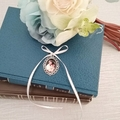 Memory Charm for Bridal Bouquet, Wedding Photo Charm for Brides Flowers