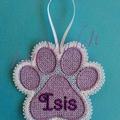 Lace Paw Decoration
