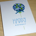 Happy Birthday card - balloon - pink or blue