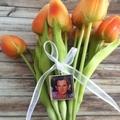 Photo Remembrance Charm for Bridal Bouquet, Memorial Locket