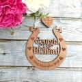 Wedding Horseshoe Keepsake, Personalised Horse shoe Wedding, Horseshoe for Bride