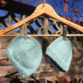 Mint Green Organic Cotton Baby Hat Size 6 months.