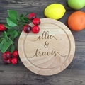 Personalised Cheese Board, Wooden cheese Board personalised, Engagement gift,