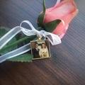 Bouquet Memory Charm, Photo Memorial Charm for Wedding Bouquet,