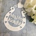 Good Luck Horseshoe, Personalised Wedding Horseshoe, Gift for Bride, Lucky Horse