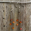 Fiery Crystal Earrings
