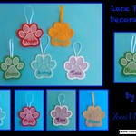 Lace Paw Decoration