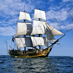 008 Sailing Ship poster A4 Size