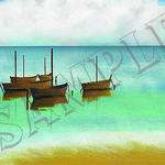 021 Painted Boats poster A3 Size