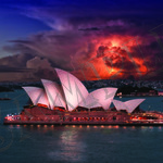 012 Storm over Opera House poster A4 Size