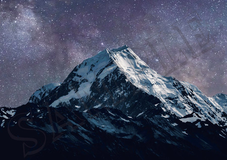 007 Stars over mountain poster A3 Size