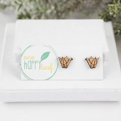 Origami stud earrings - origami jewellery - origami crane earrings - origamic st