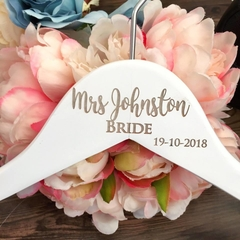 Affordable Wedding Hangers, Personalised Bridesmaid Coat Hangers