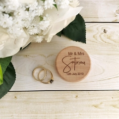 Personalised Wood Ring Box, Custom engraved ring box, Wedding Ring Box, Ring Box