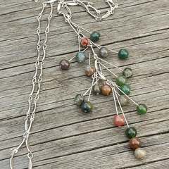 Colourful Jasper Stone Necklace