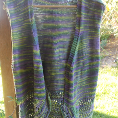 Hand knitted vest, 100% hand-dyed cotton yarn ON SALE!!!