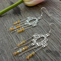 Gorgeous Crystal Chandelier Earrings