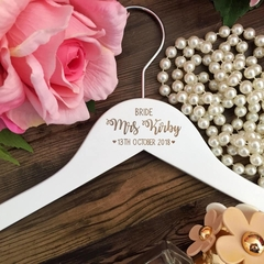 Wedding Hangers for Bridal Party, Custom Name Coat Hangers