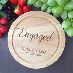 Engagement Gift Cheese Board, Gift for Couple, Personalised Cutting Board