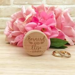 Mr & Mrs Wedding Ring Box, Custom Name Ring Box, Wooden Ring Box, Wedding Gift