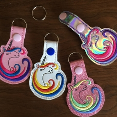 """Unicorn"" Key Fob/Zipper Pull"