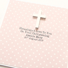 Religious Personalised card Christening Baptism Communion Confirmation spots