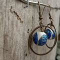 Floating Cloisonne Bead earrings