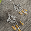 Bright and Cheery Crystal Chandelier Earrings