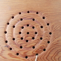 Square trivet hand tooled from reclaimed Canadian Cedar round pattern ON SALE!!!