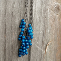 Dark Blue Stone Long Necklace
