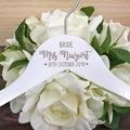 Wedding Hangers for Bridal Party, Custom Name Coat Hangers