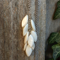 Tear Drop White Shell Necklace