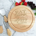 Personalised Cheese Board for Birthday Gift, Custom Happy Birthday Gift