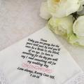Wedding Handkerchief for Page Boy, Ringbearer Wedding Gift